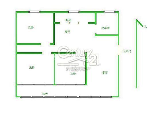 山南世紀花園144平 3室2廳 南北通透戶型 帶車庫帶儲藏室 證過2年僅售135萬價格能談戶型圖