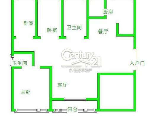 城南鶴伴豪庭 品質小區 159平3室2廳2衛 新房未住 帶車位帶儲藏室 僅售139萬 僅此一套戶型圖