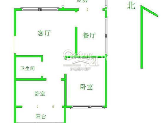 依山傍水 邹平国税局 94平精装修 低楼层 仅售90万 证过两年 二小学区户型图